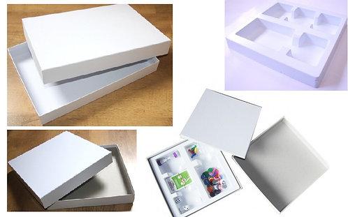 DEFAUT D'ASPECT - Boîtes de jeu blanc à personnaliser avec défauts d'aspect