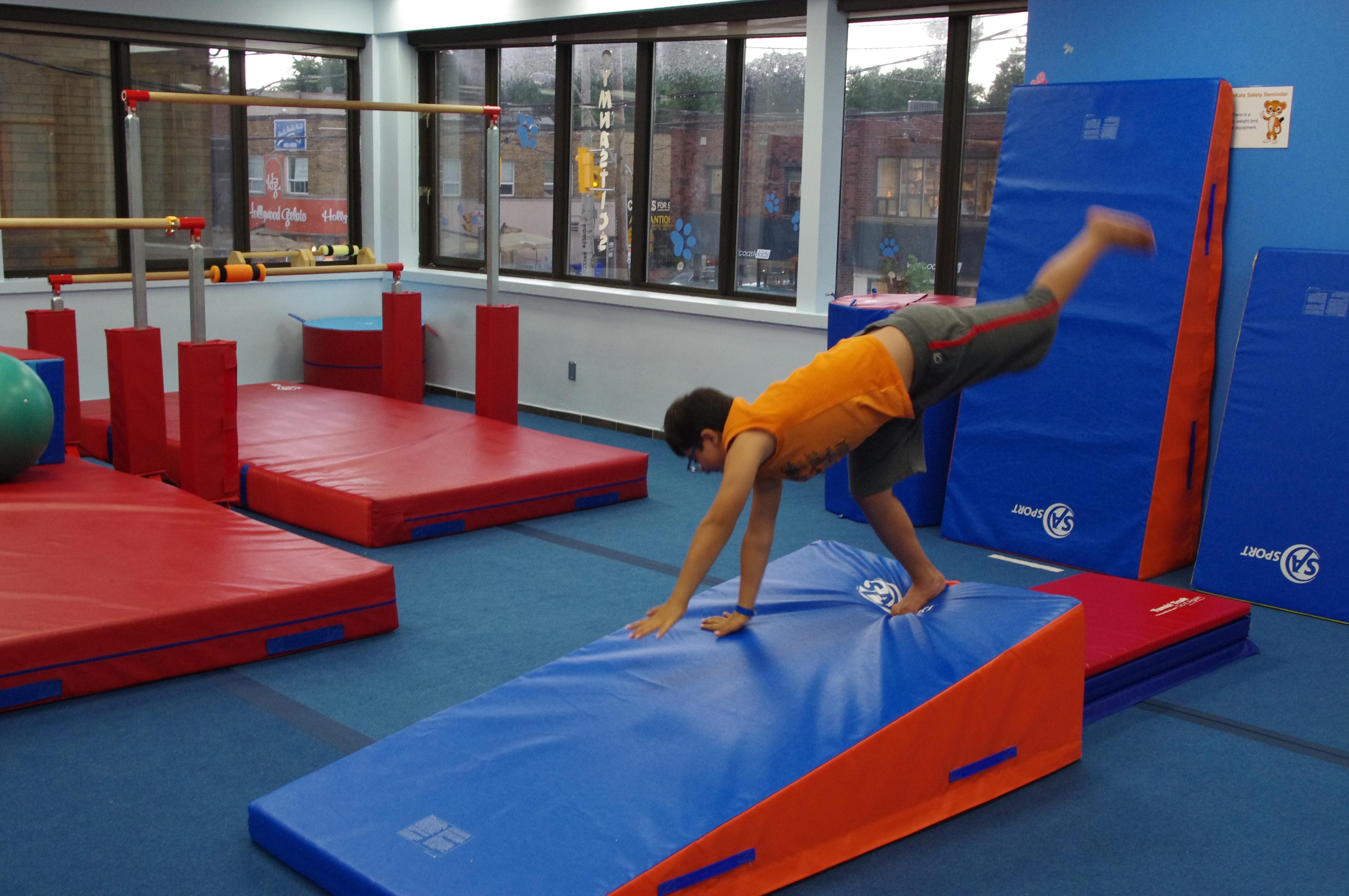 Cartwheels Down Incline