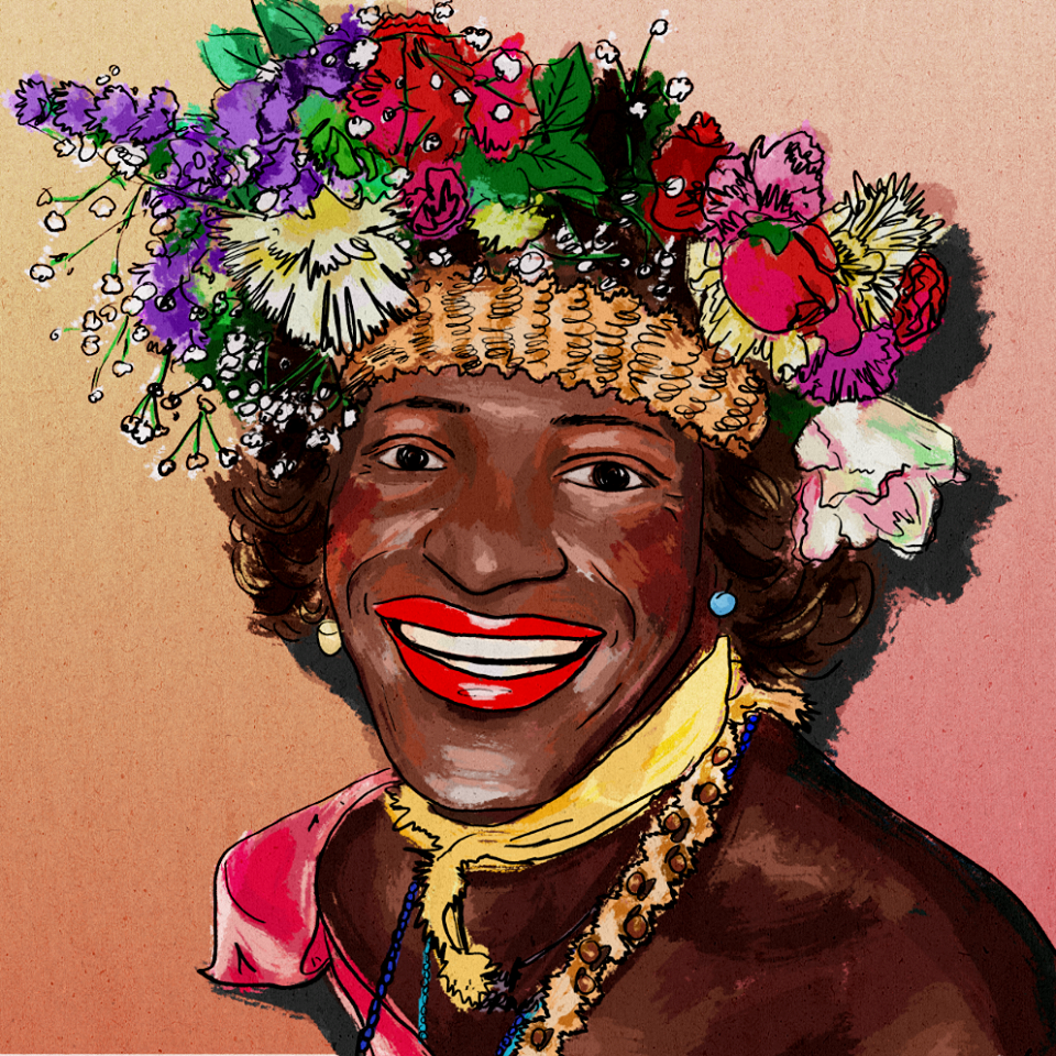 Marsha Johnson. Artist: Andy Thornton