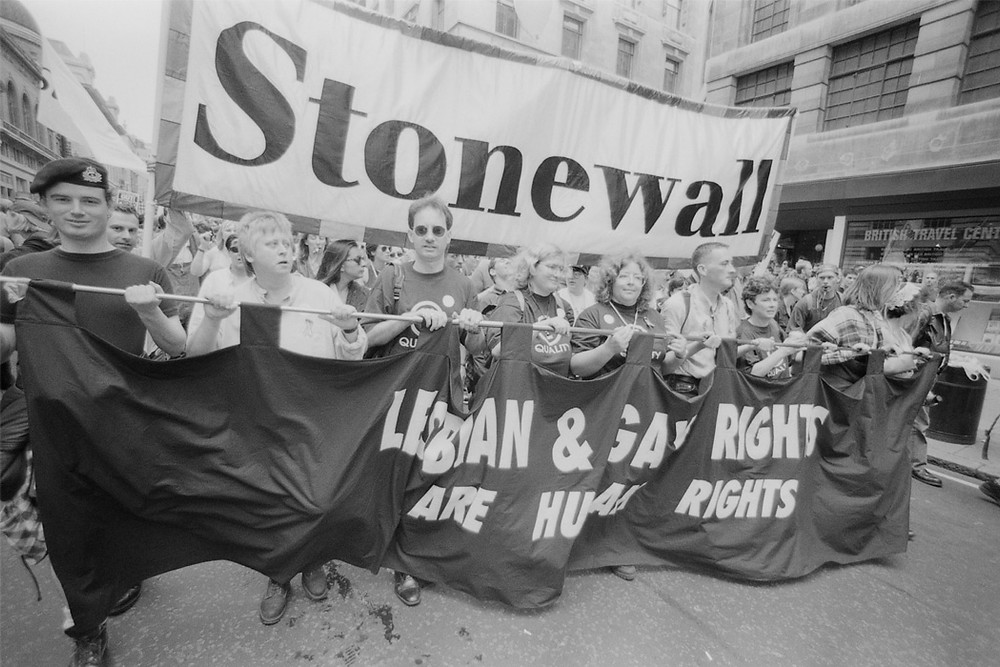 The Stonewall march for Lesbian and gay rights