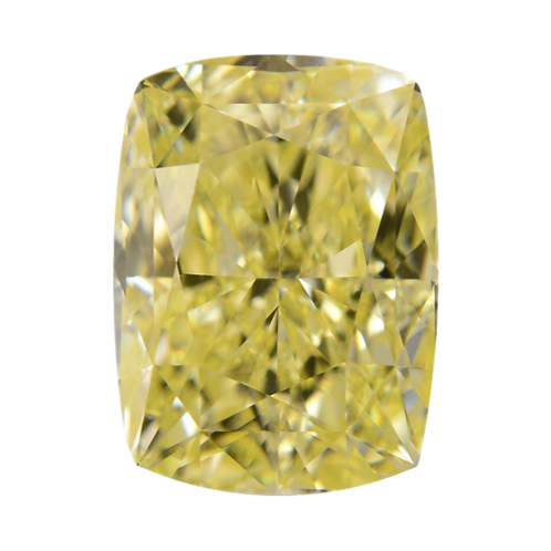 Fancy Yellow, 0.56 ct., Radiant Cut, SI2 (GIA #2171220309)