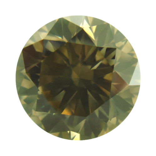 Fancy Grayish Greenish Yellow, 0.31ct., Round Cut, SI1 (GIA #1199354844)