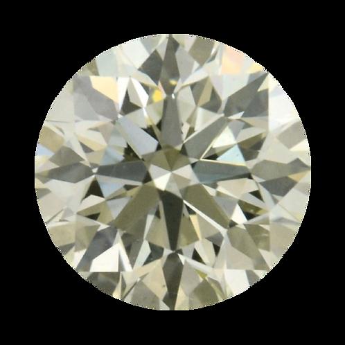 Fancy Light Grayish Green, 0.32 ct., Round Cut, SI2 (GIA #2175228141)