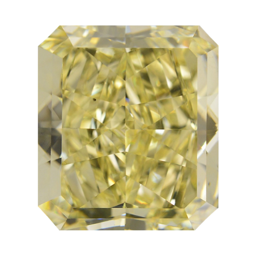 Fancy Yellow, 0.55 ct., Radiant Cut, SI2 (GIA #1159814707)