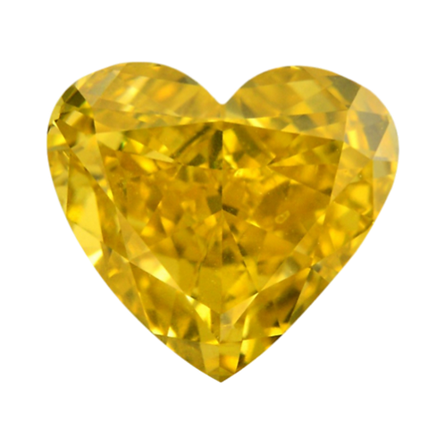 Fancy Deep Orangy Yellow, 0.25 ct., Heart Cut (GIA #1156958015)