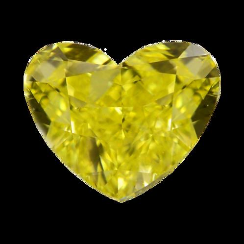 Fancy Vivid Yellow, 0.32 ct., Heart Cut (GIA #2151958037)