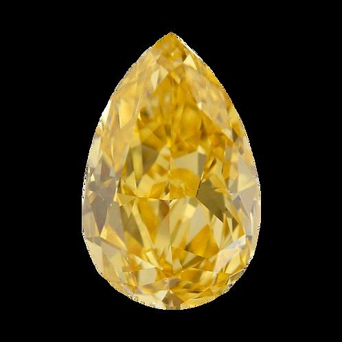Fancy Intense Orangy Yellow, 0.21 ct., Pear Cut (GIA #2151508187)