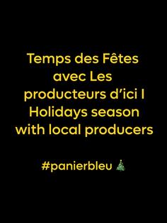 Temps des fêtes #panierbleu 🎄