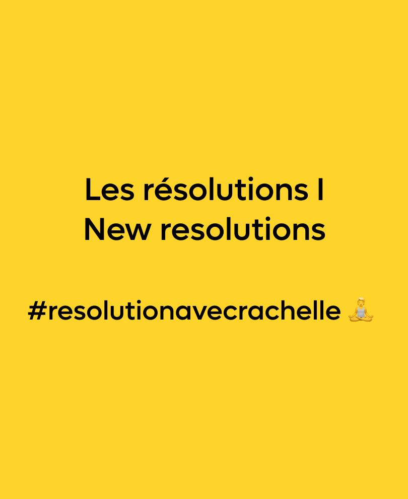 Résolutions #resolutionavecrachelle 🧘