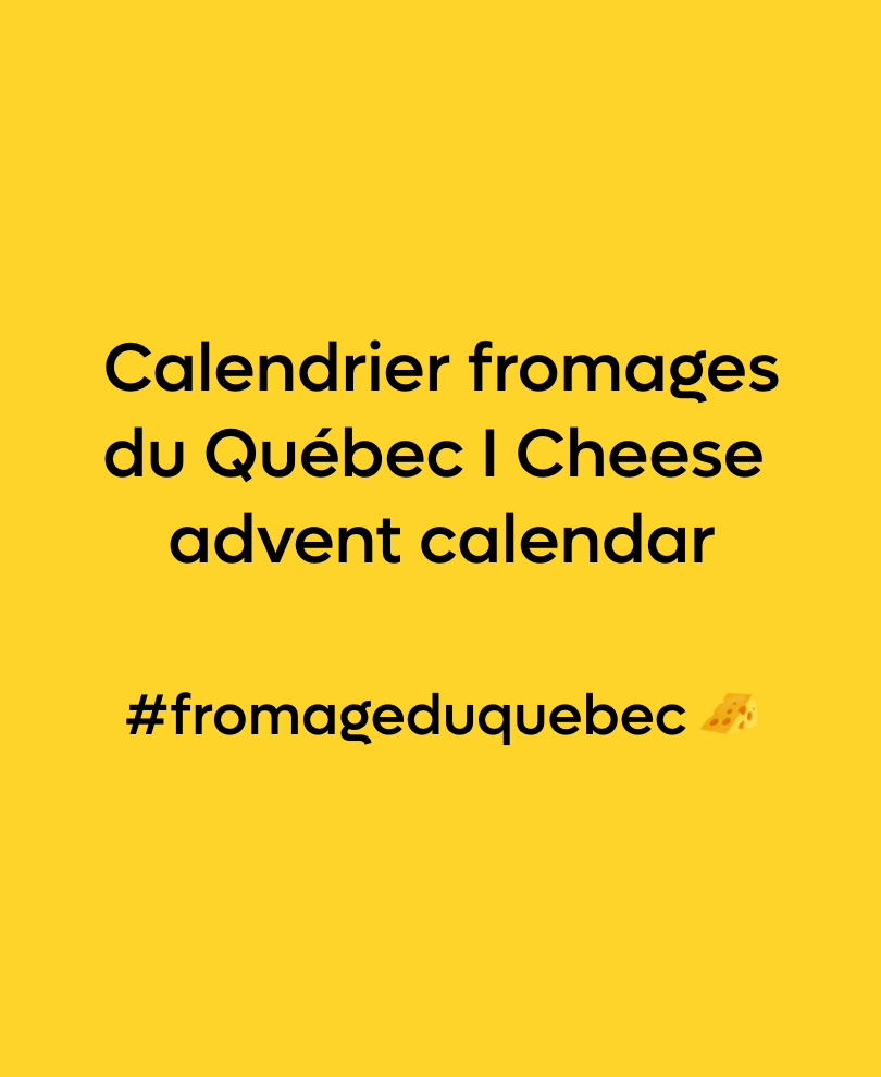 Calendrier Fromage #fromageduquebec 🧀