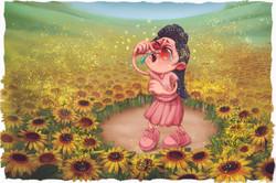 Allergien Sketch Illustration