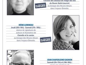 Auteurs présents au Salon du livre de Québec
