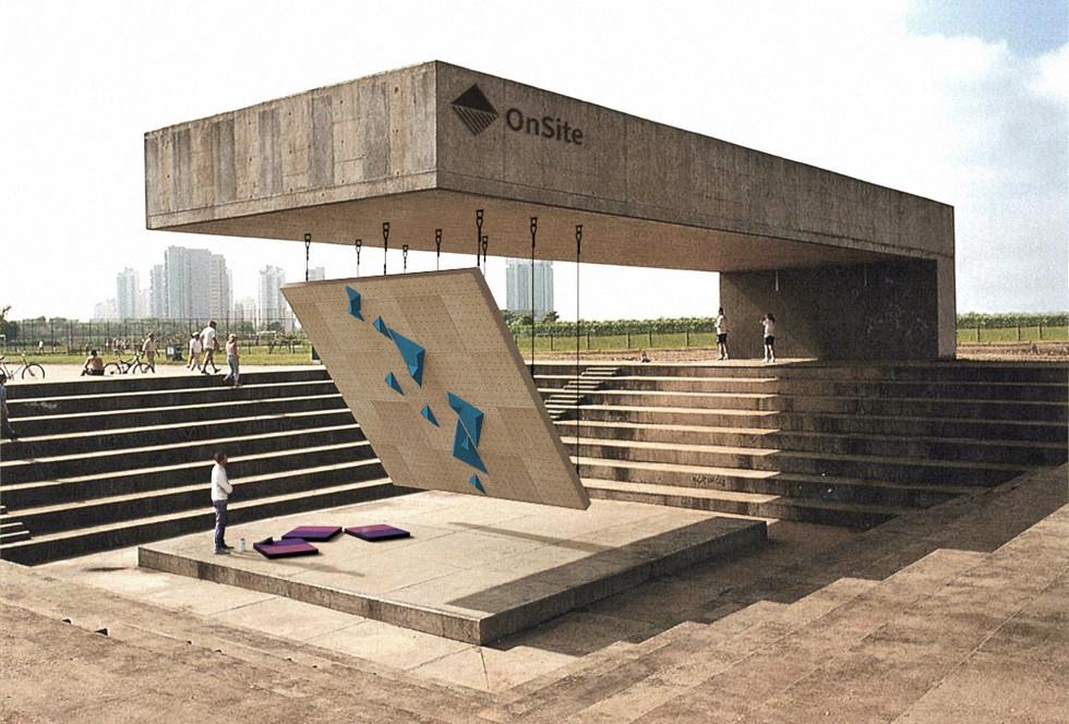 Concept Visuel - Inspiré par l'Amphithéâtre du Parque Villa Lobos au Brésil. Architecte Decio Tozzi.