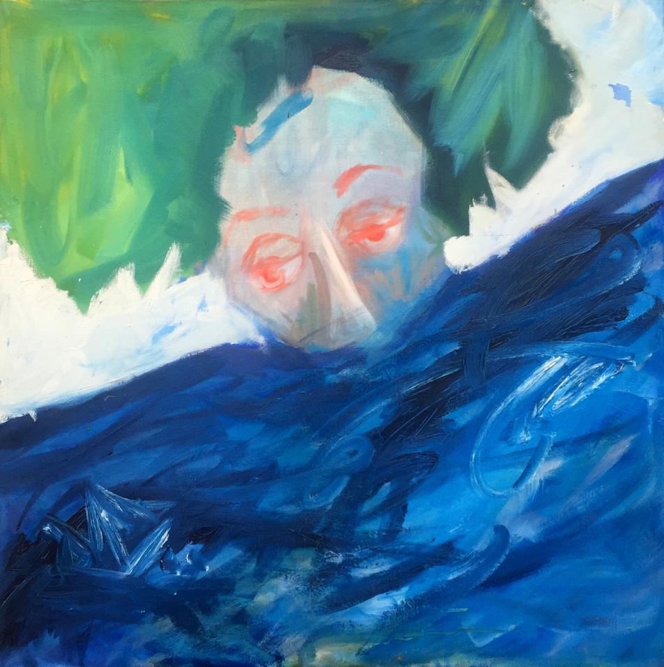 Lost Oil on Birch 3' x 3' 1995