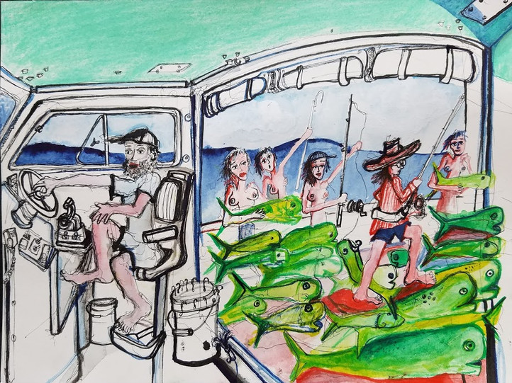 Dorado Dan 9x12 Watercolor & Ink  2018