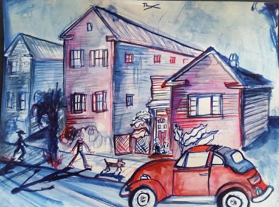 374 Sumter Street  9x12  Watercolor  2017