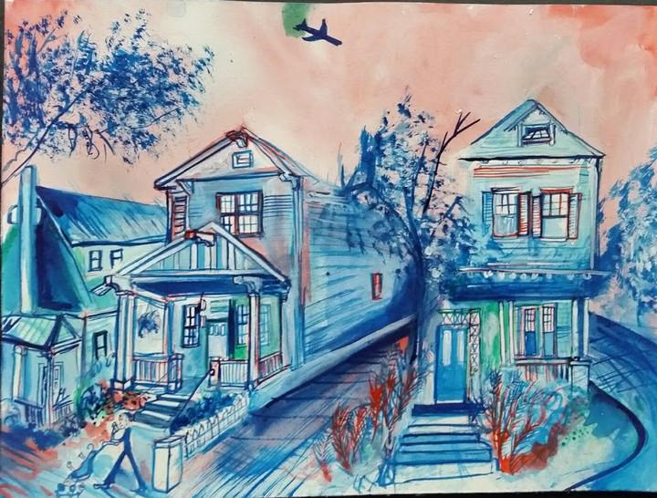 555-549 Huger Street 9x12  Watercolor  2017