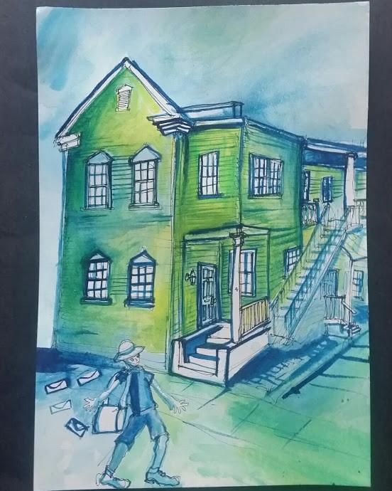 4 Savage Street  7x10  Watercolor  2017