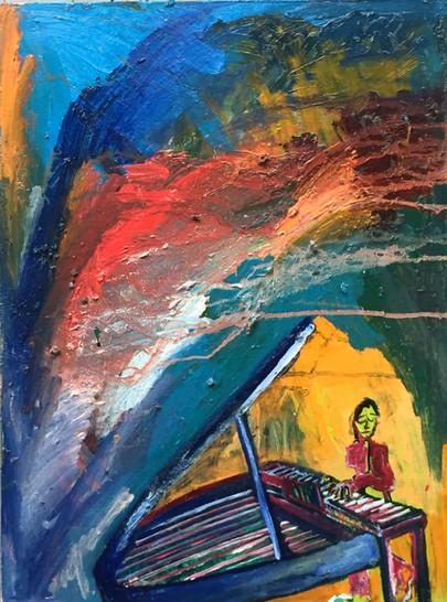 Paul Wittgenstein Oil on Birch 18 x 24 2018