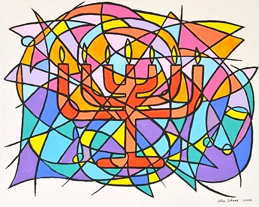 Canvas 8 with Menorah