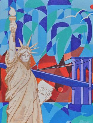 Statute of Liberty - Golden HOPE