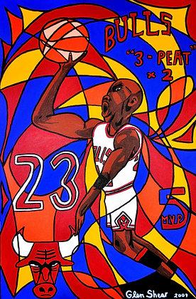Michael Jordan 3-Peat x 2