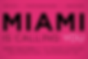 Art Takes Miami logo for competition featuring artwork of Glen Shear