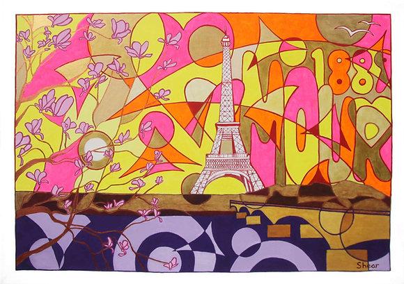 Eiffel Tower 2 Sepcial Sunset 1889