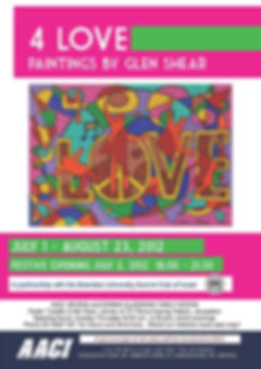 AACI advertisement for exhibit featuring artwork of Glen Shear