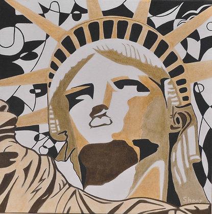 Statute of Liberty - Golden Face