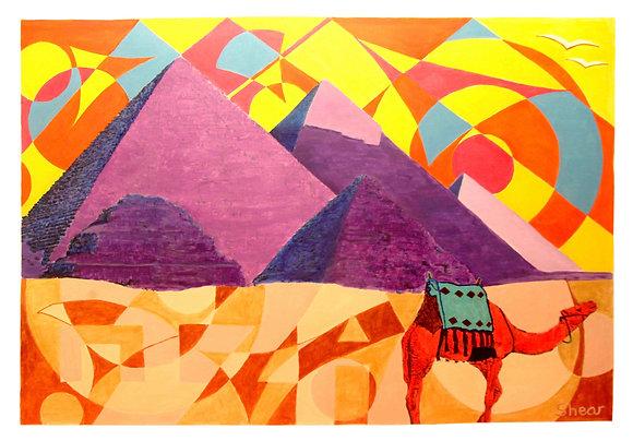 Giza Pyramids - Bright Sky
