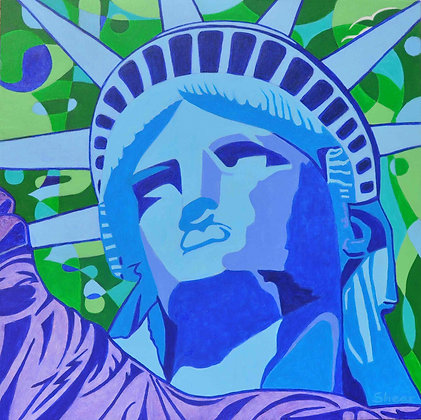 Statute of Liberty - Blue Face