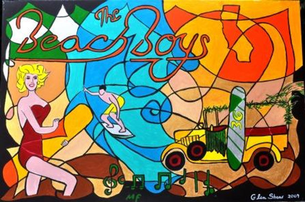 The Beach Boys Surfin Usa 36 Shear Art Sk