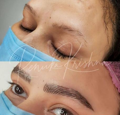 Microblading eyebrows renuka krishna ind