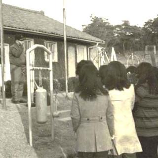 제1가나안농군학교에서 강연 중인 일가 선생(1968년)