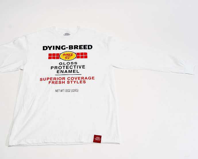 Rusto-Breed White Long Sleeve Tee