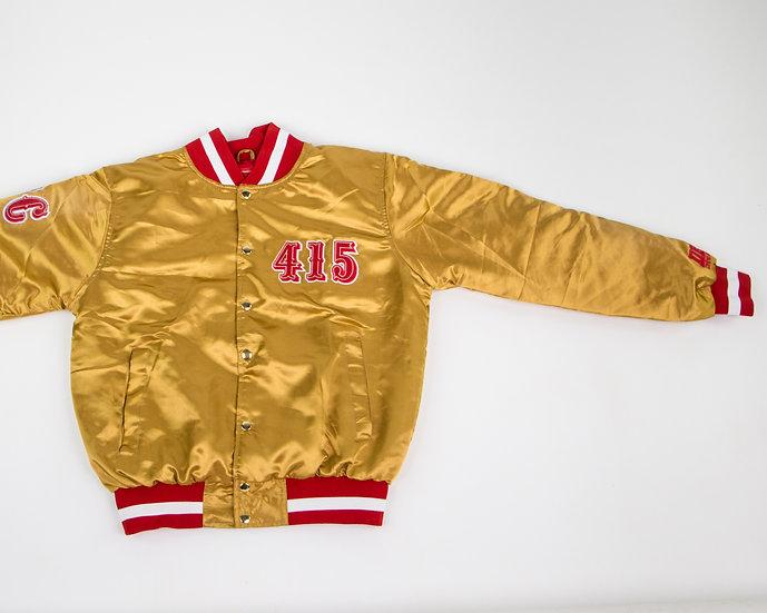 Frisco Satin Jacket Gold