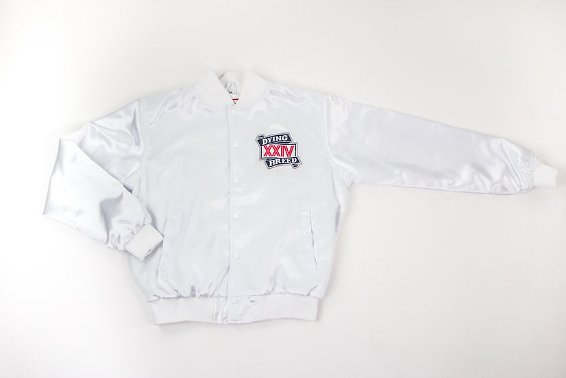 Dying Breed White XXIV Satin Jacket