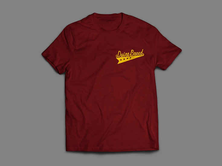 Dying Breed Tacos Tee Burgundy