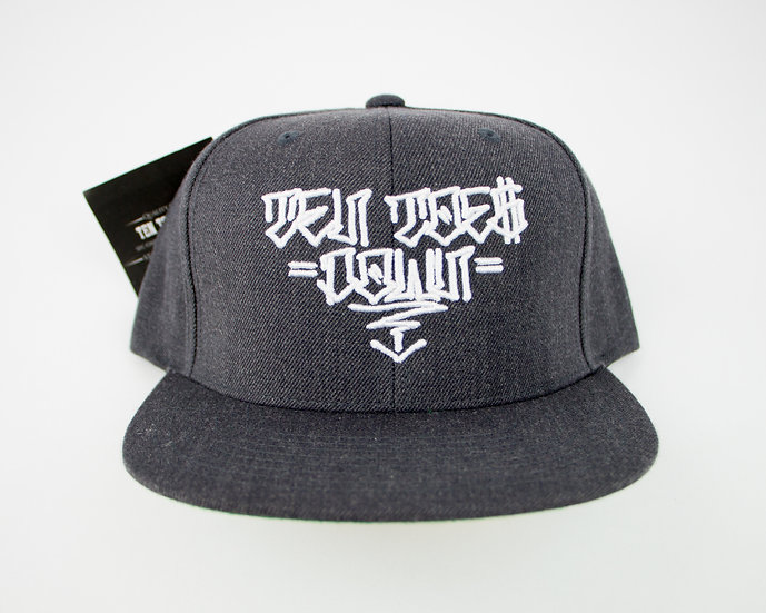 Ten Toes Down Snapback (Dark Grey)