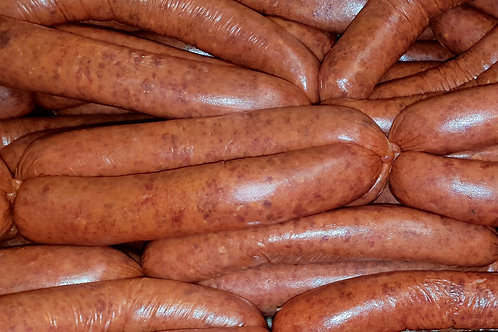STEAK and ONION SAUSAGES, 6 pack