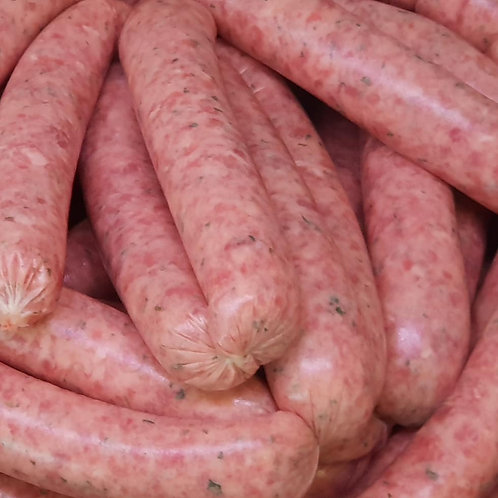 LAMB and MINT SAUSAGES, 6 pack