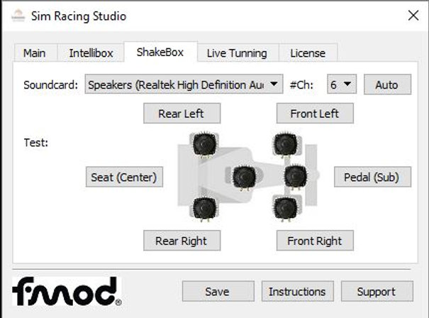 SRS License for Bass Shaker and DOF Reality Motion Platform |  simracingstudio