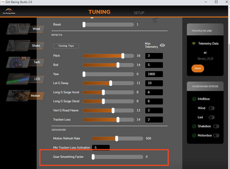 Gear Smoothing Factor
