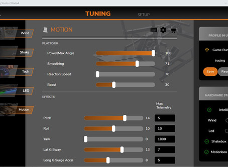 """Motion: How """"Power/Max Angle"""", """"Reaction Speed"""",""""Smoothing"""" and """"Boost"""" affects my ride?"""