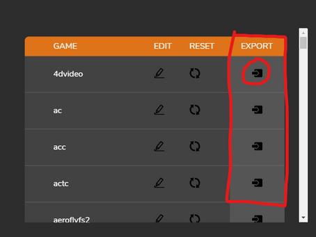 Import / Export Tuning Profiles