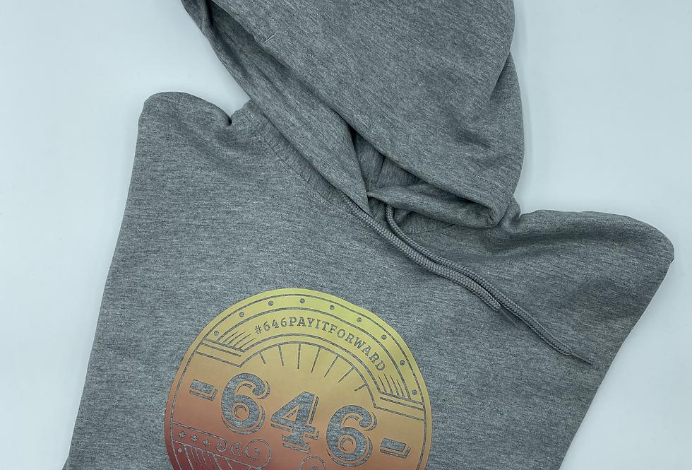 TZ Hoodie Grey Ombre Logo