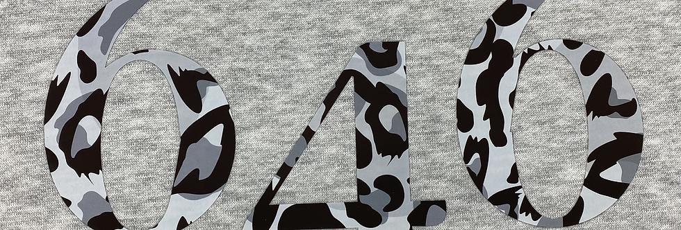 Leopard Grey Logo Hoodie Grey
