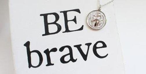 Athena Coin Necklace Silver