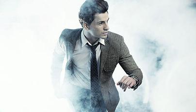 Running Man dans la brume